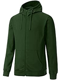 "<span class=""a-offscreen"">[Sponsored]</span>Men's Long Sleeve French Terry Lightweight Basic Zip-up Hoodie Jacket(Basic & High-Neck, S-3XL)"