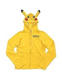 Pokemon Pikachu Zip-Up Hoodie Sweatshirt with Ears