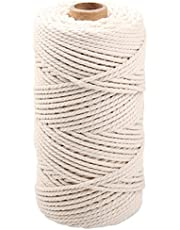 NOANTA Macrame Cord 3mm x 109Yards, Natural Cotton Macrame Rope, Cotton Cord for Wall Hanging, Plant Hangers, Crafts, Knitting