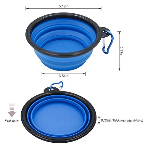 Bac-kitchen 4 Pcs Stainless Steel Dog and Cat Food Dish/Bowls, Shallow Cat Dish, Neater Feeder Extra Replacement Bowl -Metal Food and Water Dish, for Small Dogs and Cats,12oz (4 pcs)