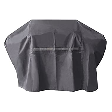 iCOVER 65 Inch Heavy-Duty water proof patio outdoor black oxford BBQ Barbecue Smoker/Grill Cover G21605 for weber char-broil Brinkmann