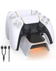 $21 » NexiGo Dobe Upgraded PS5 Controller Charger, Playstation 5 Charging Station with LED Indicator, High Speed, Fast Charging Dock for Sony DualSense Controller, White