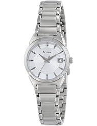 Bulova Womens 96M111 Crisp Silver Dial Watch