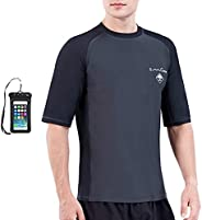 OMGear Rashguard Swimsuit MMA BJJ Rash Guard UPF 50+ Swimming Shirt Surf Suit Rash Vest