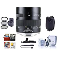 Mitakon Zhongyi Speedmaster 35mm f/0.95 Mark II Lens for Canon EOS-M Mirrorless Cameras Black - Bundle With 55mm Fliter Kit, Lens Pouch, Cleaning Kit, Capleash, Mac SoftwarePackage, And More