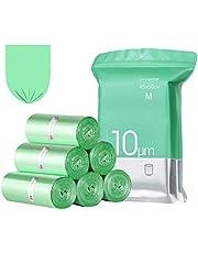 23GUANYI afvalzakken voor levensmiddelen voor de keuken, 20 liter, 4 rollen met elk 25 zakken, groen