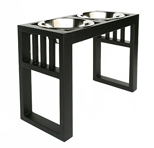Libro Double Diner Raised Dog Feeder 38cm Tall