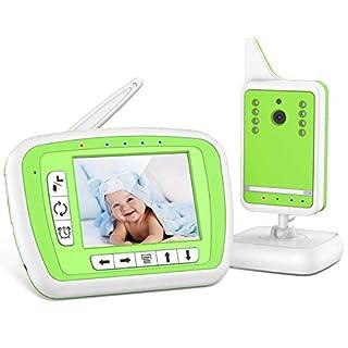 "BIBENE Video Baby Monitor with Digital Camera and Audio, 980ft Long Range 3.3"" LCD Display, Support Multi-Camera, Auto Wake-up, Temperature Sensor, Infrared Night Vision, Lullabies,VBM"