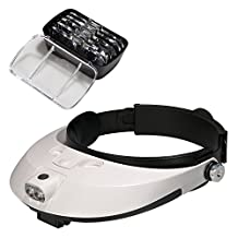 Lychee Headband Headset Head LED Lamp Light Jeweler Magnifier Magnifying Glass Loupe