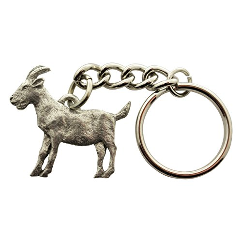 Goat Keychain ~ Antiqued Pewter ~ Keychain ~ Sarah's Treats  Treasures