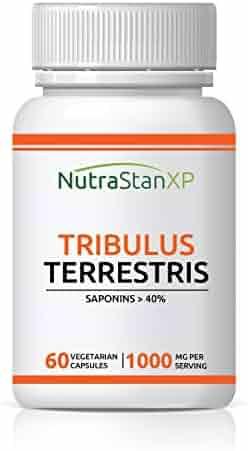 NutrastanXP Tribulus Supplement, Saponins > 40%, 1000 mg per Serving - 60 Vegetarian Capsules