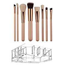 Makeup Brush Organizer Ralphe&Co Makeup Brush Set with Makeup Storage Professional Eyeshadow Foundation Concealer Brush with Holder
