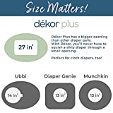 Dekor Plus Hands-Free Diaper Pail   Gray   Easiest