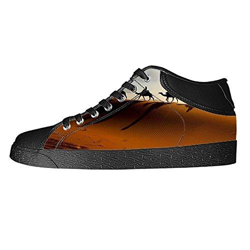 Dalliy sch?ne w¨¹stenlandschaft Men's Canvas shoes Schuhe Lace-up High-top Sneakers Segeltuchschuhe Leinwand-Schuh-Turnschuhe