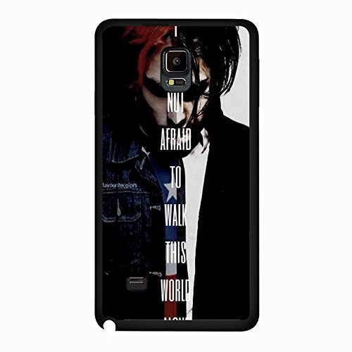 Samsung Galaxy Note 4 Band MCR Cover Shell Cool Personalized Gerard Way Alternative/Indie Rock Band My Chemical Romance Phone Case Cover for Samsung Galaxy Note 4