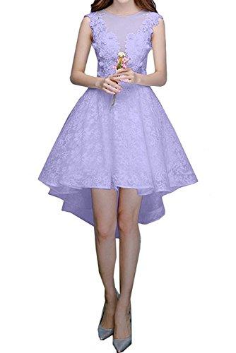 Abendkleider Rock A Marie Spitze Lilac Brautjungfernkleider Linie Cocktailkleider Hi Kurzes La Braut Lilac lo Damen Hq1C0
