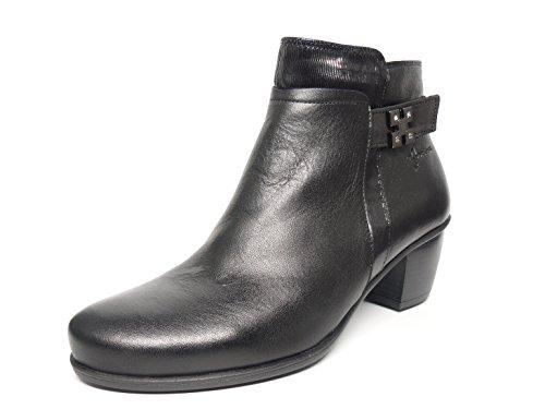 Fluchos 6883 cómodo colores tacón negro y Dorking Disponible piel burdeos 72 en negro Botín 70 de y 7wXtB