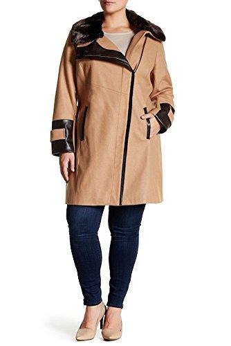 Via Spiga Faux Fur Wool Blend Coat (Plus Size), 20W - (Via Spiga Blend Coat)