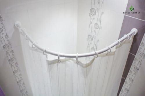 barre pour rideau de douche 55-90 cm blanche barre de douche ** extra court ** maintenant absolument nouveau ** exclusif /à notre magasin **