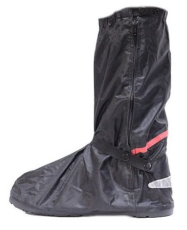 Motorcycle Rain Boot Covers with Rubber Sole Large