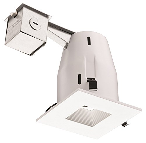 (Lithonia Lighting LK4SQMW LED LPI M6 Square 4 Inch Kit with LED Lamp Included in White)