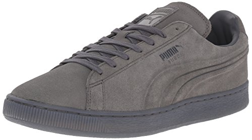PUMA Men's Suede Emboss Iced Fashion Sneakers, Dark Shadow, 9 D US