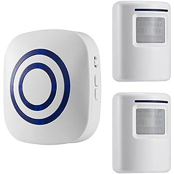 Great WJLING Motion Sensor Alarm, Wireless Driveway Alert, Home Security System  Alarm With 2 Sensor