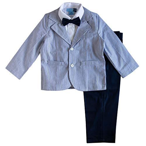 (Good Lad Toddler Thru 4/7 Boys Blue Seersucker Suit Set)