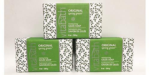 Vita Bath Moisturizing Bar Soap - Vitabath Moisturizing Gelee Soap, Original Spring Green, 8 Ounce (3 pack)