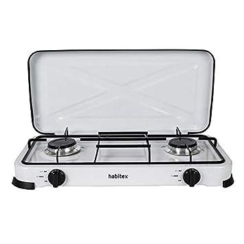 Cocina 2 Fuegos Gas | Habitex Cocina Portatil Gas 2 Fuegos Amazon Es Jardin