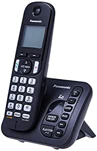 Telefone sem Fio, Panasonic KX-TGC 220LBB, Preta