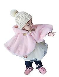 Fankeshi Newborn Baby Boy Baby Girl Unisex Clothes Fur Winter Hooded Cloak