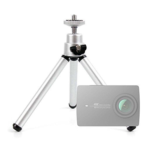 Ultra-Portable, Lightweight Aluminium Tripod with Sturdy, Collapsible Legs for the Xiaomi Yi 2 4K (90003) Action Camera - by DURAGADGET