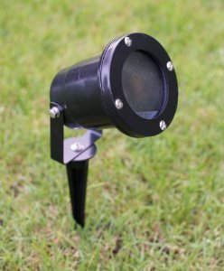 Set of 6 Aluminium Garden Spotlights With wall bracket and