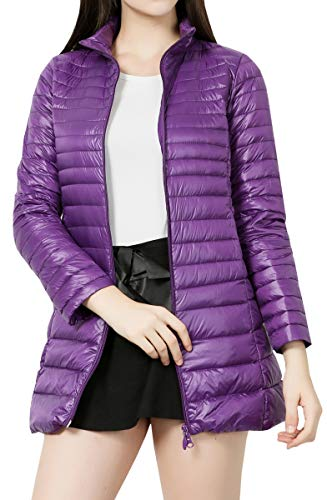 Jacket Winter Women Size Purple Packable Leggera Blackmyth Lunga Plus Manica Down Coat xAOqSw8RS