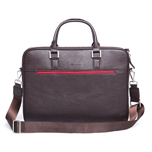 "Laptop Bag 13.3 Inch Briefcase - Designer laptop carrying case laptop bags for men, travel messenger Bag for 13"" Macbook, Tablet, Notebook bookbag, HP stylish Business Bag by Settonbrothers - Brown"