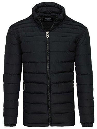 Classic Jacket Mix js517 4D4 Transitional Casual Lightweight BOLF Men's Black qtSxH1