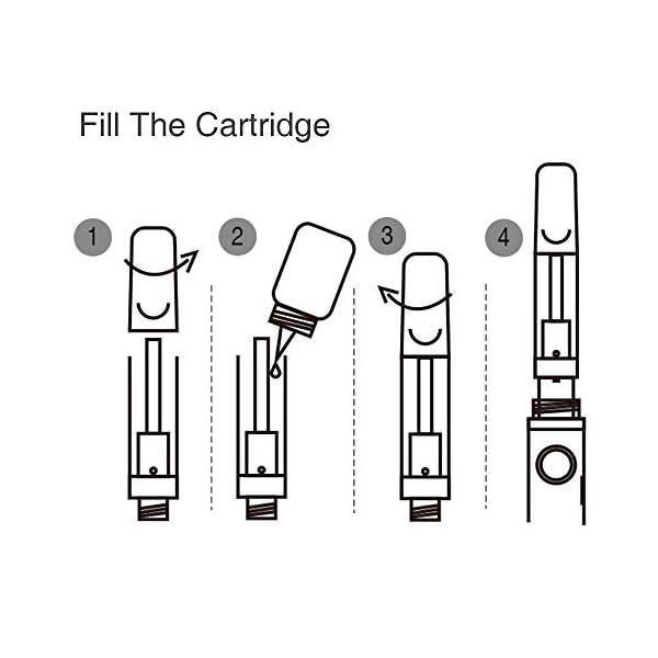 2 Units Original Clearomizer VapeMaster Navigator New Generation Vape Cartridge for E-Liquid & CBD Hemp Oil | Ceramic Coil Technology | Pyrex Glass Tank | 1.0ml Capacity | Pure Vapor – No Nicotine