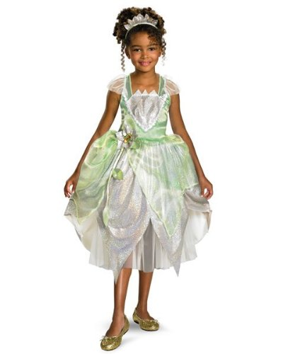 [Deluxe Princess Tiana Costume - X-Small] (Princess Tiana Disney Costume)
