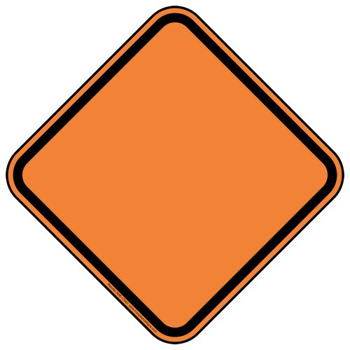 ComplianceSigns Reflective Blank Aluminum Surface / Post Mount Sign, 12 x 12 in., Orange