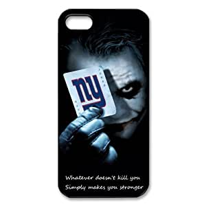 NFL New York Giants Iphone 5 Case Cover The Joker & Poker NY Giants Iphone 5 Cases