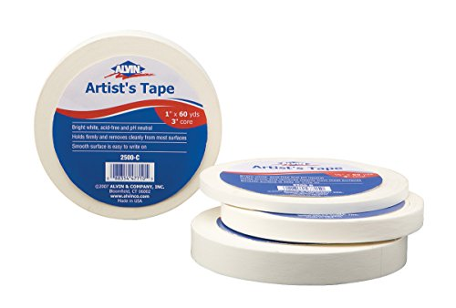 Alvin 2500 Artists Tape 3/4 inches x 10 yards (Bright S3 Board White)