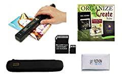 Simply Portable              Less than a foot long, the Magic Wand Portable Scanner scans documents, photos, newspapers, receipts, and more, and saves them to a microSD card (included!). It's perfect for travelling, or even si...