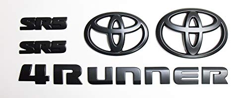 (Genuine Toyota 4Runner Blackout Emblem Overlay Set PT948-89180-02. Black 5 Piece Emblem Overlay Set. 2018-2019 4Runner.)