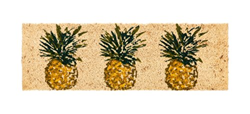 - Evergreen Kensington Pineapple Natural Coir Interchangeable Switch Mat - 28.25