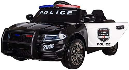 Toyscar electronic way to drive coche eléctrico para niños policía 12 V sirena intermitente altavoz puertas abatibles Full Optional blanco con mando a distancia negra: Amazon.es: Juguetes y juegos