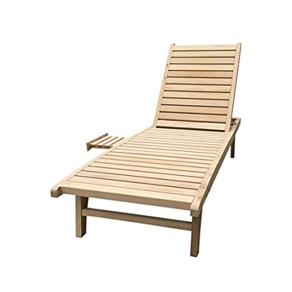 Amazoncom Alitop Wooden Chaise Lounge Outdoorindoor Patio Lawn