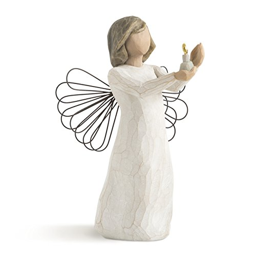 Willow Tree Angel of Hope, sculpted hand-painted figure (Willow Tree Angel Stand)