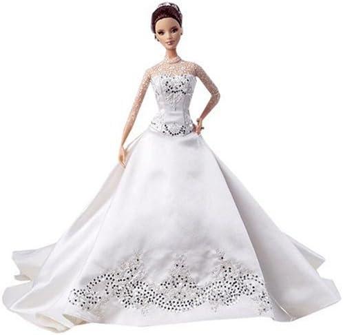 B000OYYDQY Reem Acra Bride Barbie Doll 41t-4BsZFlL.
