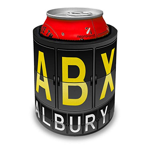 NEONBLOND ABX Airport Code for Albury Slap Can Cooler Insulator Sleeve